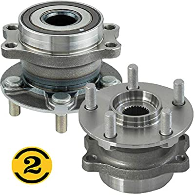 Rear Wheel Bearing & Hub Assembly Fit 2014-2020 Subaru Forester, 2016-2020 Subaru Crosstrek, 2012-2020 Subaru Impreza, 2013-2015 Subaru XV Crosstrek Wheel Bearing Hub 5 Lugs (2 Pack)-512518: Automotive