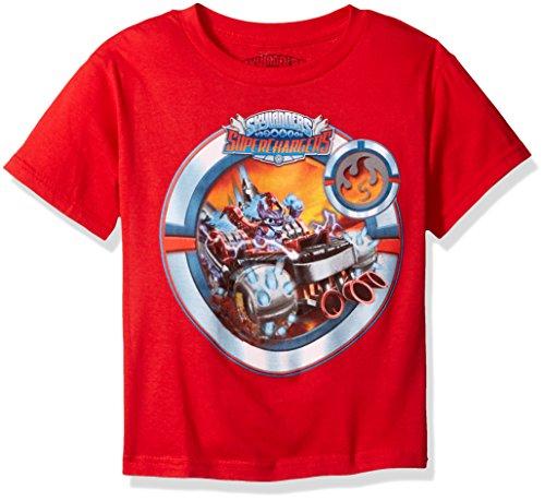 Skylanders Little Boys Skylanders Superchargers Racing T-shirt, Red, 4 (Red Trap Skylander)