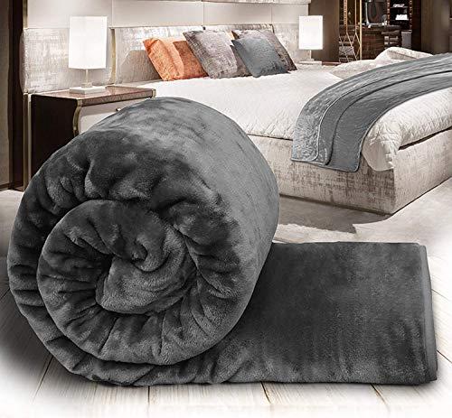Global Home Polyester 400 TC Blanket (Grey_King)