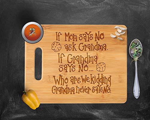 - Cutting Board, Custom Cutting Board, Engraved Cutting Board, Grandmother Mother's Day Grandma Bamboo Wood