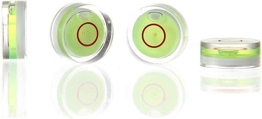 KOBWA Circulaire Niveau /à Bulle Outils de Mesure Maison 10/x 10/x 6/mm tr/épied Construction cam/éra 4/pcs Acrylique Mini Standard Spirit Niveau /à Bulle /° Ensemble de Mark pour RVS etc.