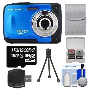 Bell & Howell Splash WP10 Shock & Waterproof Digital Camera with 8GB Card/Reader + Case + Tripod + Kit