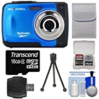 Bell & Howell Splash WP10 Shock & Waterproof Digital Camera (Blue) with 16GB Card/Reader + Case + Tripod + Accessory Kit Overview Review Image
