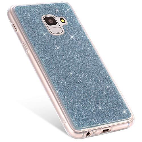 Protection Samsung Compatible Hybrid Silicone J6 Bumper Pour Coque Tpu Bumper violet Etui Galaxy Rann Case Housse Bling bao Etoile 2018 Paillette Bleu Brillante Glitter qxCFwCZp