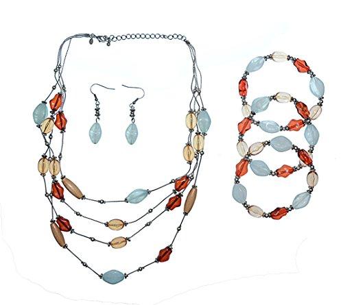 Premier Designs Austin Necklace, Bracelets, Earrings - 5PC Set