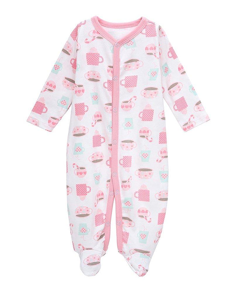 人気の quoxiao Footieパジャマベビー男の子女の子Sleepers 100 B072M95BW2 %ソフトコットンCoverallsサイズ0 – 100 12ヶ月 10-12 Months Months White Pink Cup B072M95BW2, ラグマート:8f7f0062 --- a0267596.xsph.ru