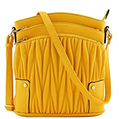 This multi pocket large size crossbody bag makes easy to organize your everyday items.
