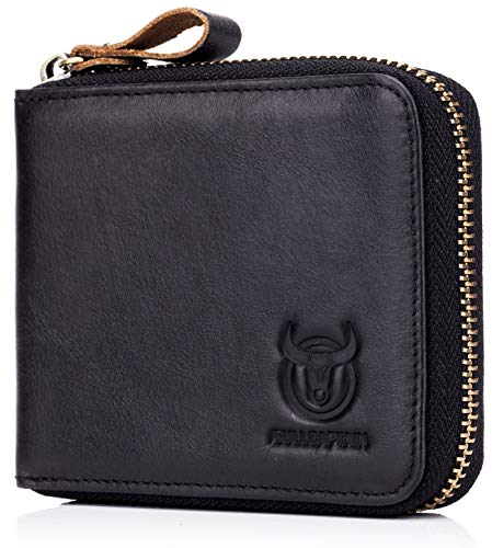 Genuine Leather Zipper Blocking Wallets product image