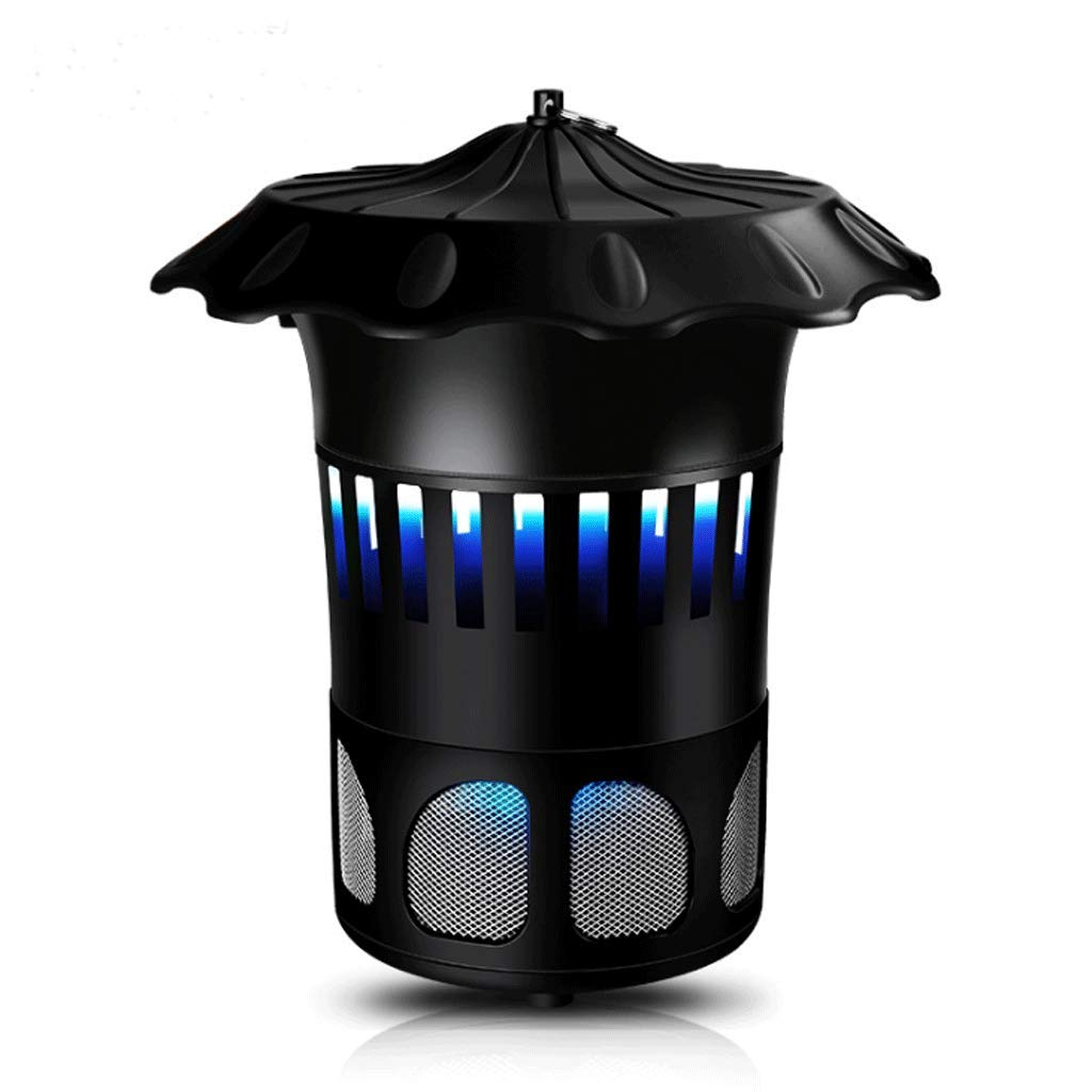Black Metal Black Outdoor Home USB Photocatalyst Mosquito Lamp Top Ring No Radiation Mosquito Lamp (color   Black)