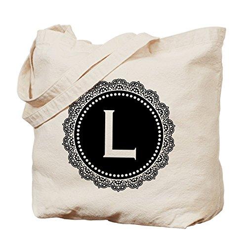 CafePress–Monogram medallón l–Gamuza de bolsa de lona bolsa, bolsa de la compra