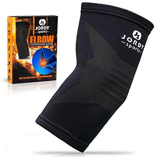 Jordy Sports Elbow Compression Brace - Arm Support Sleeve for Tennis and Golfer's Elbow