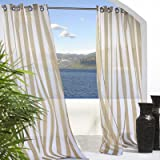 Outdoor Décor semi sheer voile panels