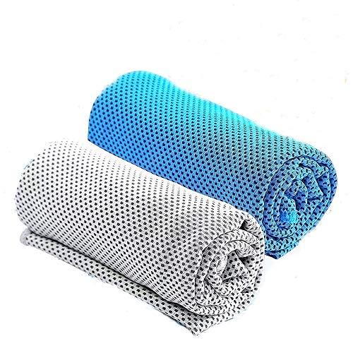 [해외]속 건 수건 스포츠 타 올 2 매 세트 방재 용품 마이크로 화이버 목욕 타월 비치 타 올 여행 수건 퇴색 없는 취 초 속 건 초 흡수 초 부드러운 콤팩트 여행 ? 욕실 ? 스포츠에 최적 (그레이 블루) / Quick Dry Towel Sports Towel 2 pieces Set Disas...