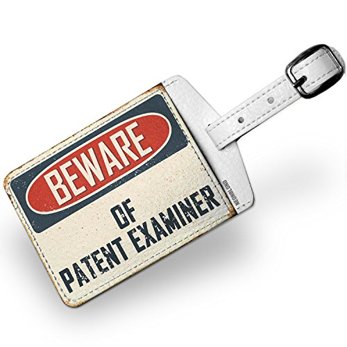 Luggage Tag Beware Of Patent Examiner Vintage Funny Sign - - Luggage Patent Tag