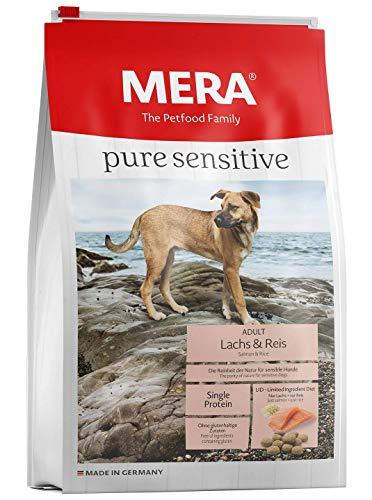 Mera pure sensitive Hundefutter > Lachs & Reis < Trockenfutter für nahrungssensible Hunde – glutenfrei & hypoallergen…
