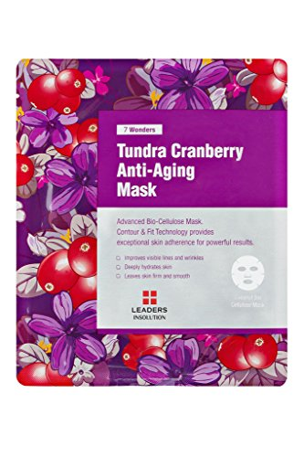 Leaders Insolution 7 Wonders Tundra Cranberry Anti-Aging Coconut Gel Bio-Cellulose Mask 10Pk