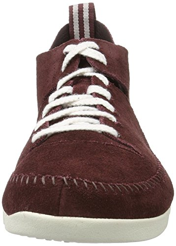 Clarks Originals Trigenic Flex, Zapatillas para Hombre Rojo (BURG Suede)