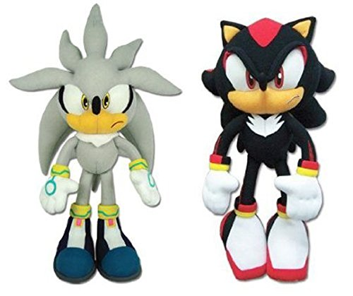 Great Eastern Sonic The Hedgehog - Silver Sonic & Shadow Plush (Set of 2)