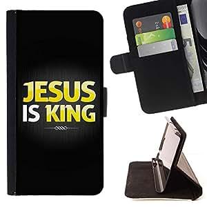 Momo Phone Case / Flip Funda de Cuero Case Cover - BIBLIA Jesús es Rey; - HTC One A9