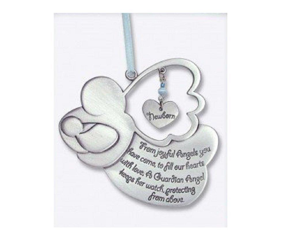 Baptism Blue Child Of God Customizable Snowflake Pewter: Amazon.com : Pretty GUARDIAN ANGEL Baby GIRL Crib Medal 4