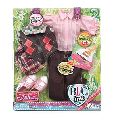 Best Friends Club Ink. 18 inches  Large Doll Fashion Pack Pretty Preppy: Toys & Games