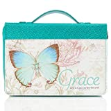 """Teal Botanic Butterfly Blessings """"Grace"""" Bible"""