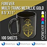 Forever Multi-Trans (Metallic Gold) Heat Transfer Paper 100 sheets 8.5'' x 11''