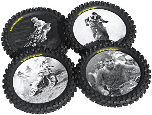 (Smooth Industries Knobby Tire Drink Coasters 1821-100)