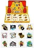 6 packs de 12 tatuajes estilo pirata temporales para niño o niña para cotillón piñata 72 en total