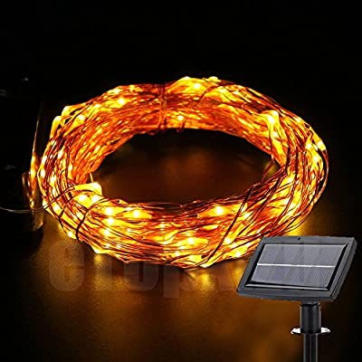 Outdoor Solar Copper Wire lights Fairy String,eTopxizu 72Ft 150leds Solar Starry String Lights Decorative Lamp,Solar Outdoor LED String Lights Garden Xmas wedding Christmas strip Light Warm White