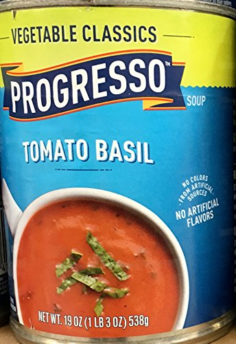 Progresso Vegetable Classics Tomato Basil Soup 19oz Can (Pack of 8)