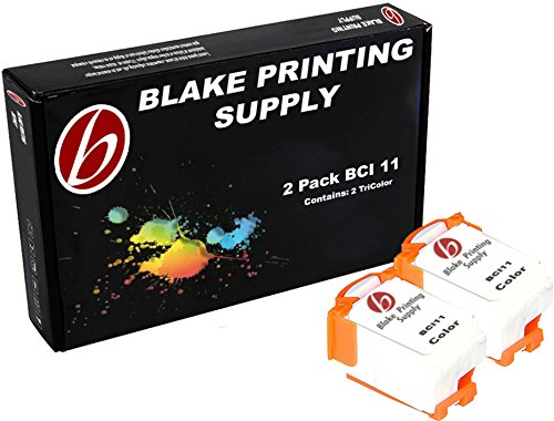 2 Colors Blake Printing Supply BCI11 Ink Cartridges Canon BJC-50 BJC-55 BJC-70 BJC-80 BJC-85 BJC-85W LR1 PrintStation Apple Color Stylewriter 2200
