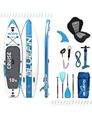 """Bluefin SUP Stand Up Paddle Board with Kayak Conversion Kit, Blue, 10'8"""""""