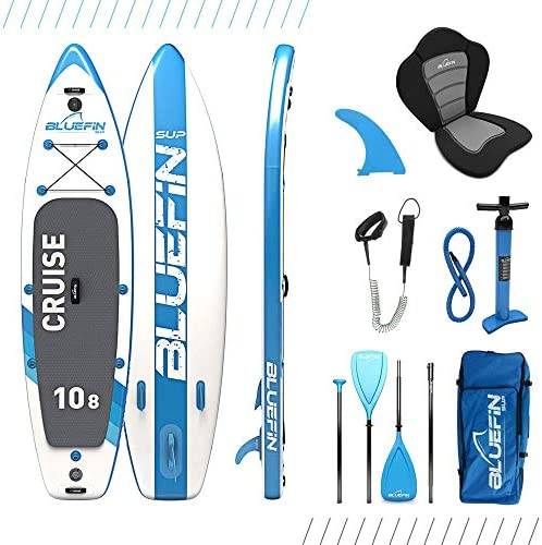 Bluefin SUP Stand Up Inflatable Paddle Board with Kayak Conversion Kit Ultimate iSUP Kayak Bundle 10 8 , 12 0 and 15 0