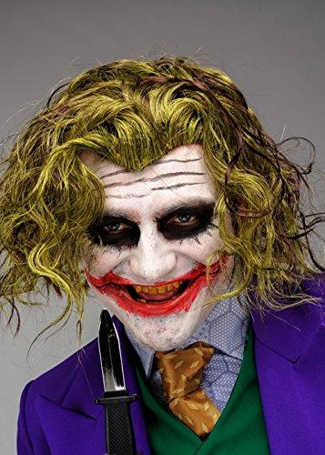 Amazon Com Adult Mens Dark Knight Style The Joker Wig Beauty