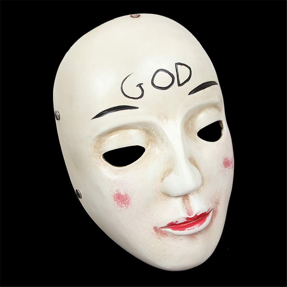NUOKAI Horror Vollgesichts halbe Gesichtsmaske Tanz Maske Männer und Frauen, Gott
