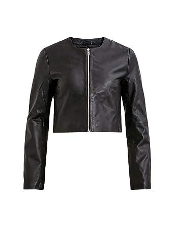 disfruta de precio barato comprar diseño de calidad Vila Cazadora Mujer Vimimose Cropped Leather Negro 40 ...