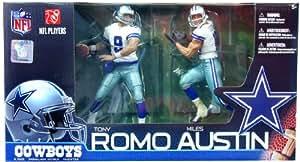 McFARLANE NFL TONY ROMO & MILES AUSTIN DALLAS COWBOYS - Lote de 2 figuras de jugadores de fútbol americano