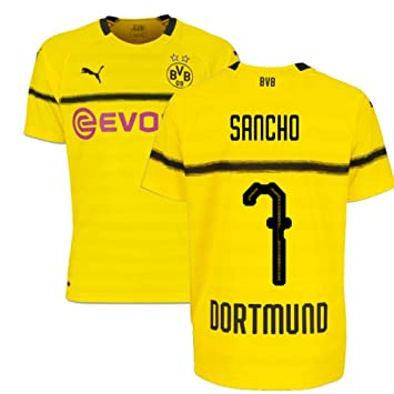 best sneakers 1ef97 577c8 2018-19 Borussia Dortmund Home UCL Football Soccer T-Shirt ...
