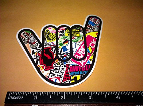 Shocker Surfs up Hang Loose Sticker Bombing Wrap Style Vinyl Decal Sticker 4