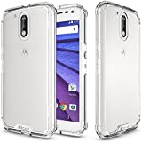 Moto G4 Plus Case, elove Motorola Moto G4 Plus [Crystal Clear Back] Soft Silicon Gel TPU + Hard PC [Shock Absorbing] [Light-weight] [Scratch Proof] [Slim-Fit] Bumper Case Cover for Motorola Moto G4 / G4 Plus - Clear