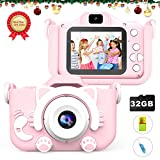 MITMOR Kids Digital Cameras for Girls Boys with 32G SD Card and Dual Lens 2.0 Inch IPS Color Screen,20.0MP HD Children Digital Video Toy Cameras Mini Camcorder for 2-14 Years Kids Birthday Gifts