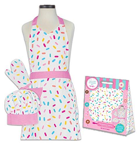 Handstand Kitchen Child's Sprinkles 100% Cotton Apron, Mitt