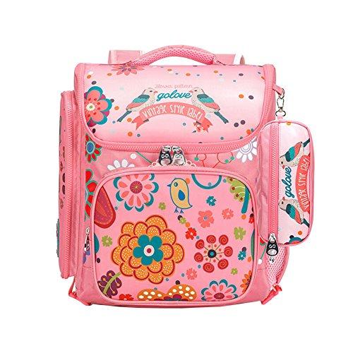 Moonwind-Girl-Backpacks-for-School-Kids-Book-Bags-Pencil-Lunch-Bag-Floral-Bird