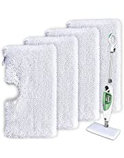 Mop Pads Compatible with Shark Steam Pocket Mop Professional Fit Series S3500 S2901 S2902 S3455K S3501 S3550 S3601 S3801 S3901 S4601 S4701 SE450 - Replacement Microfiber Cloth Head Covers 4 Pack