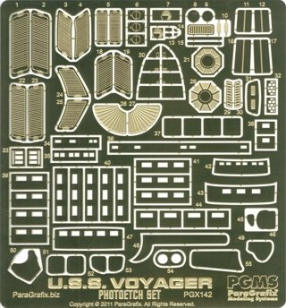 (Star Trek USS Voyager Model Kit Photoetch Set)