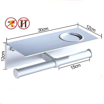 TY&WJ Tejido Portarrollos para papel higiénico,Metálico Montaje en pared Soporte para papel higiénico Rollo