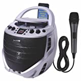Karaoke USA Portable Karaoke CDG Player with Built-in Speakers