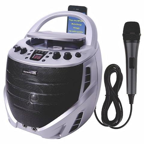 Karaoke USA GQ367 Portable Karaoke CDG Player - 5 Disc Karaoke Player