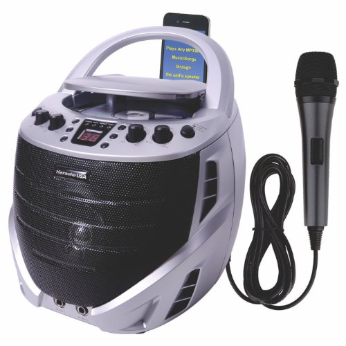 Karaoke USA Portable Karaoke CDG Player with Built-in Speakers